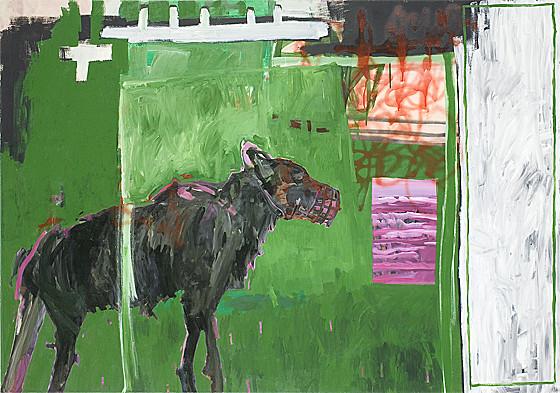 Martin Mohr  Keuzritter  2004  Acryl auf Baumwolle   140 x 200 cm