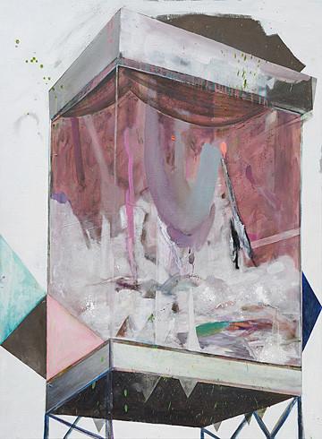 Martin Mohr Diorama II  Acryl, Lack und Öl auf Baumwolle  150 x 110 cm