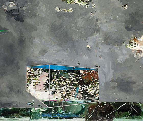 Martin Mohr  Aquarium  Acryl, Lack und Öl auf Baumwolle   170 x 200 cm