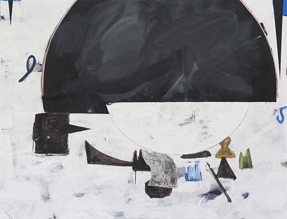 Martin Mohr  cloud community  Acryl, Lack und Öl auf Baumwolle   145 x 190 cm