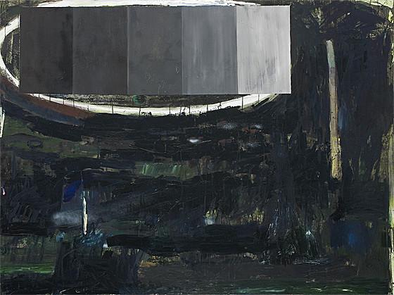 Martin Mohr  Garten Eden   Acryl, Lack und Öl auf Baumwolle   150 x 200 cm