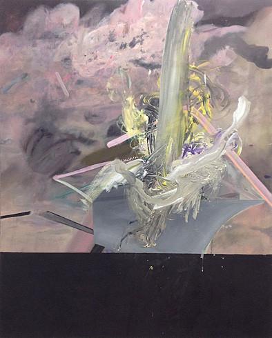 Martin Mohr  Zukunftserinnerungen  Acryl, Lack und Öl auf Baumwolle   150 x 120 cm