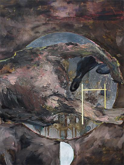 Martin Mohr  Zugang zur Welt   Acryl, Lack und Öl auf Baumwolle   120 x 90 cm