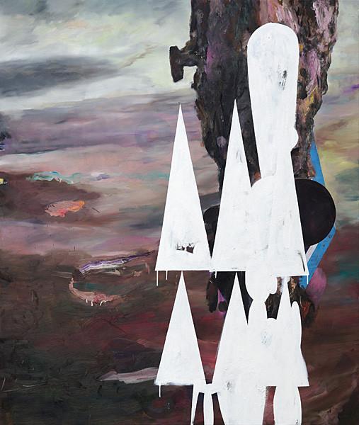 Martin Mohr  Stillleben   Acryl, Lack und Öl auf Baumwolle   140 x 200 cm