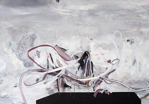 Martin Mohr  Diorama   Acryl, Lack und Öl auf Baumwolle   150 x 170 cm