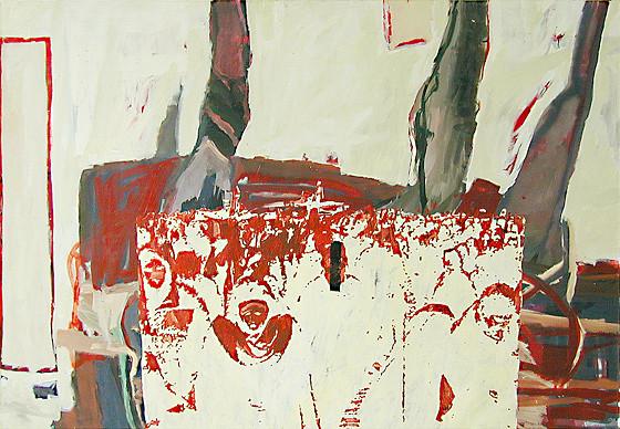 Martin Mohr  Kreuzzüge  2004  Acryl auf Baumwolle   140 x 200 cm