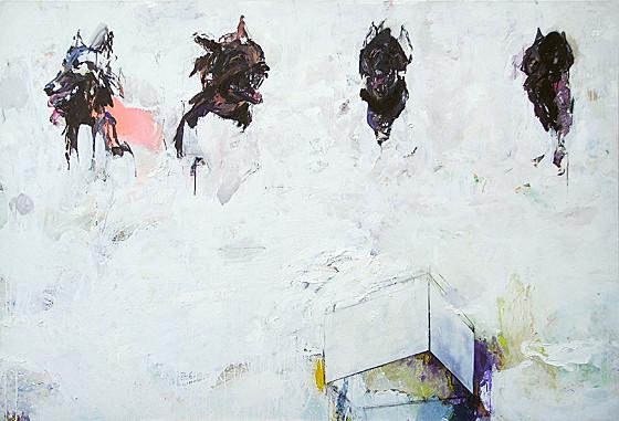 Martin Mohr  White Cube  Acryl, Lack und Öl auf Baumwolle   150 x 220 cm