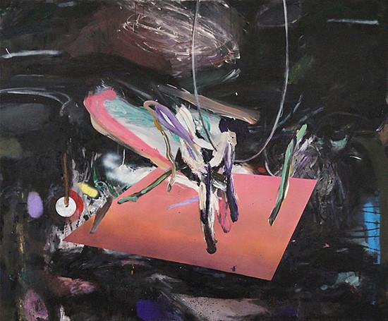 Martin Mohr  Stillleben II   Acryl, Lack und Öl auf Baumwolle   140 x 170 cm