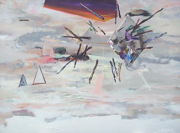 Martin Mohr  Luftschloss  Acryl, Lack und Öl auf Baumwolle   150 x 200 cm