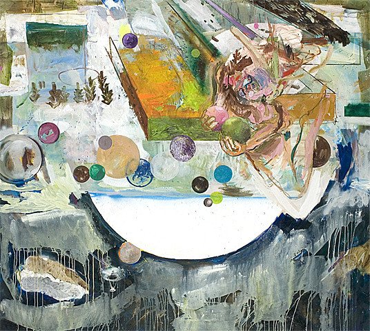 Martin Mohr  google earth  Acryl, Lack und Öl auf Baumwolle   180 x 200 cm