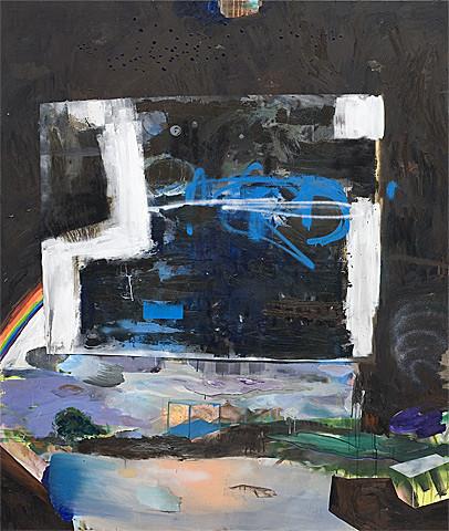 Martin Mohr  Malkasten  Acryl, Lack und Öl auf Baumwolle   200 x 170 cm