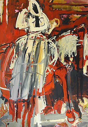 Martin Mohr  Schwarze Witwe  2004  Acryl auf Baumwolle   200 x 140 cm