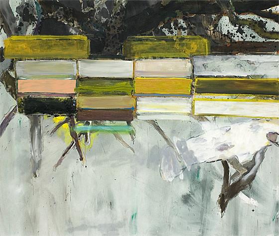 Martin Mohr  Zauberwald  Acryl, Lack und Öl auf Baumwolle   170 x 200 cm
