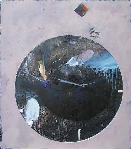 Martin Mohr  Berg Ararat 2.0  Acryl, Lack und Öl auf Baumwolle   170 x 150 cm