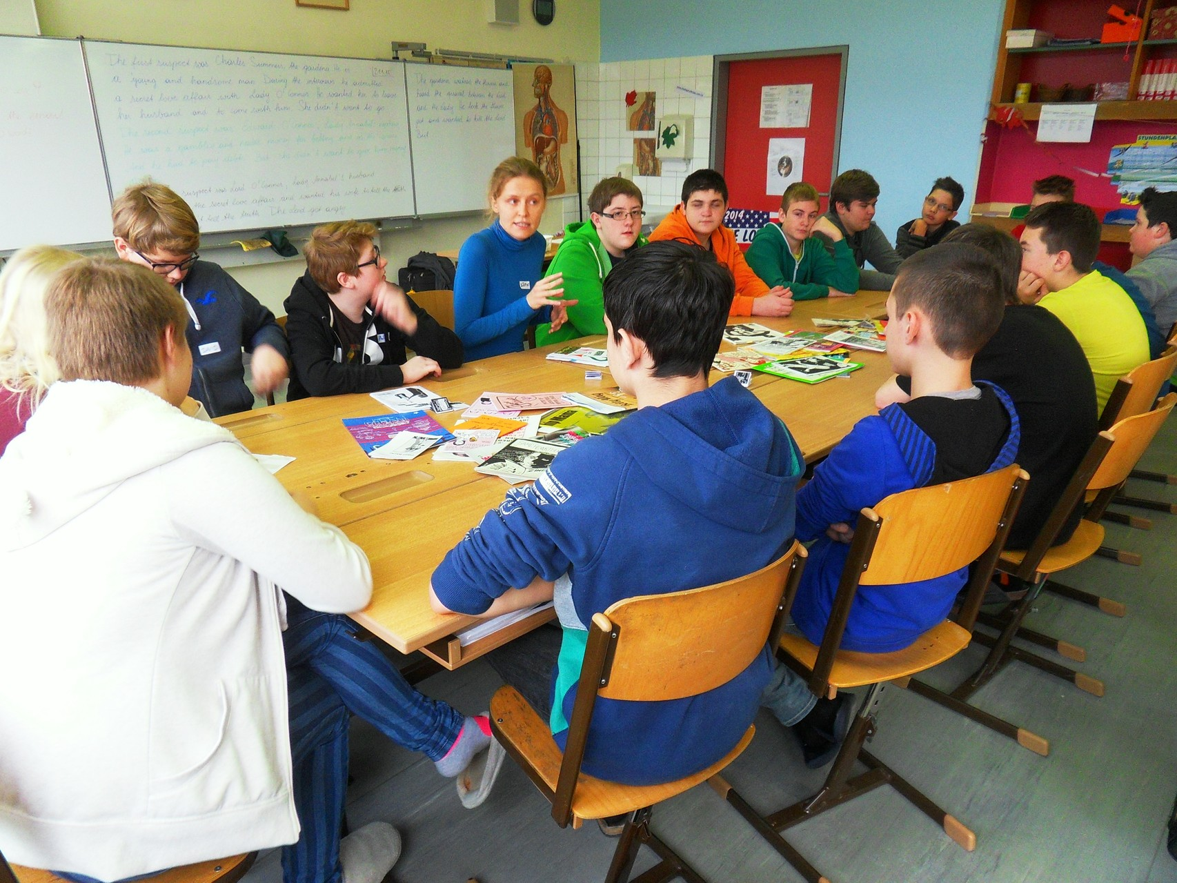Zine-Workshop an der NMS Rust (Foto: NMS Rust)