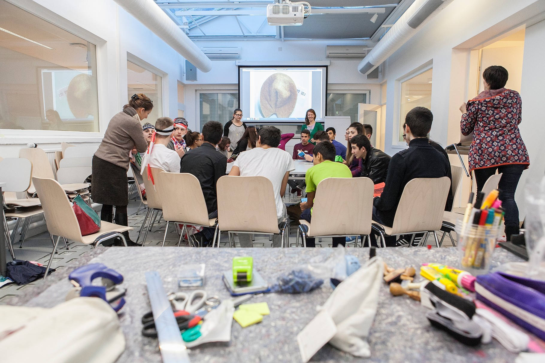 Workshop mit NMS Liefering (Foto: Pia Streicher)