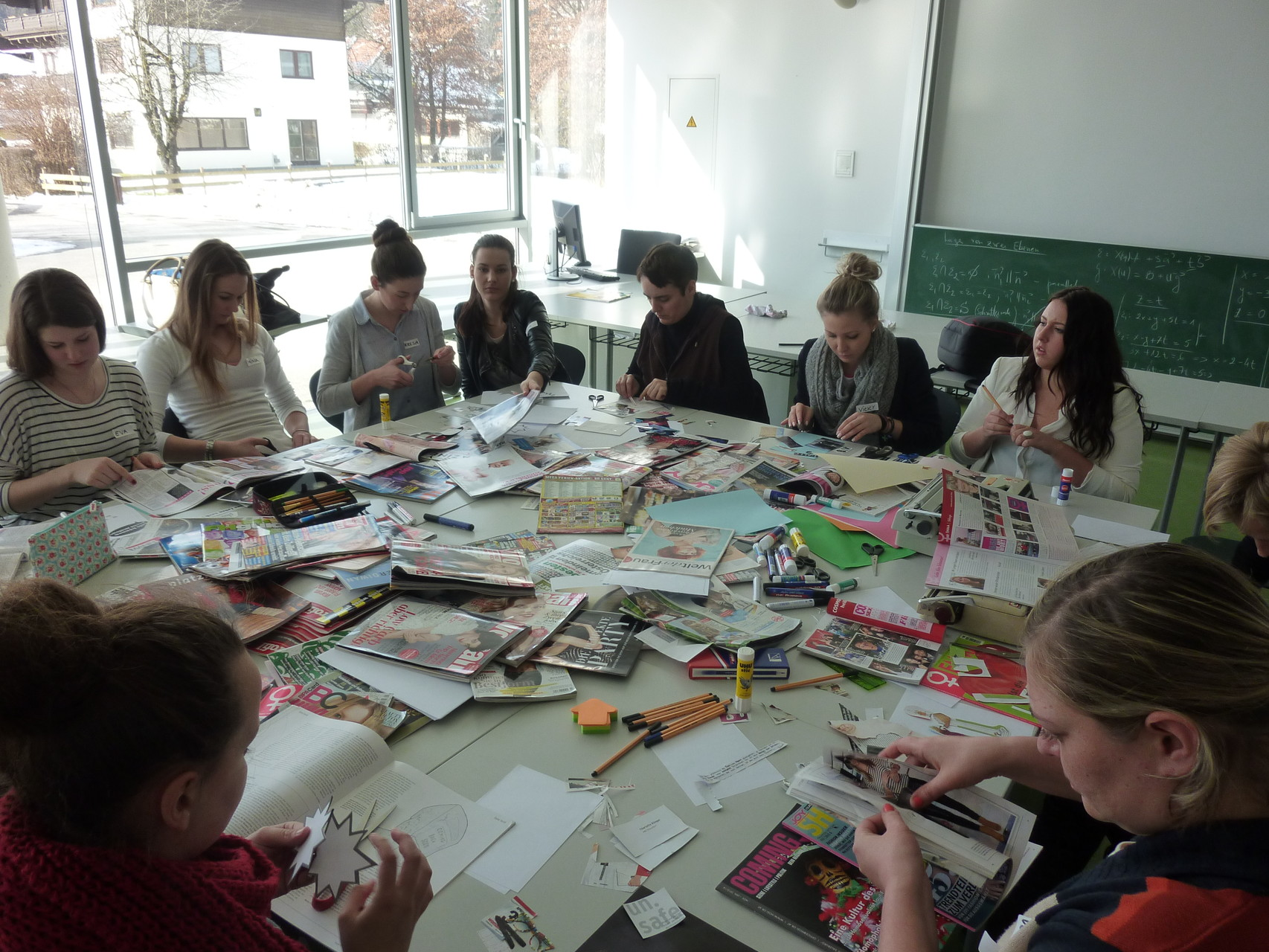 Zine-Workshop am BORG Mittersill (Foto: Laila Huber)