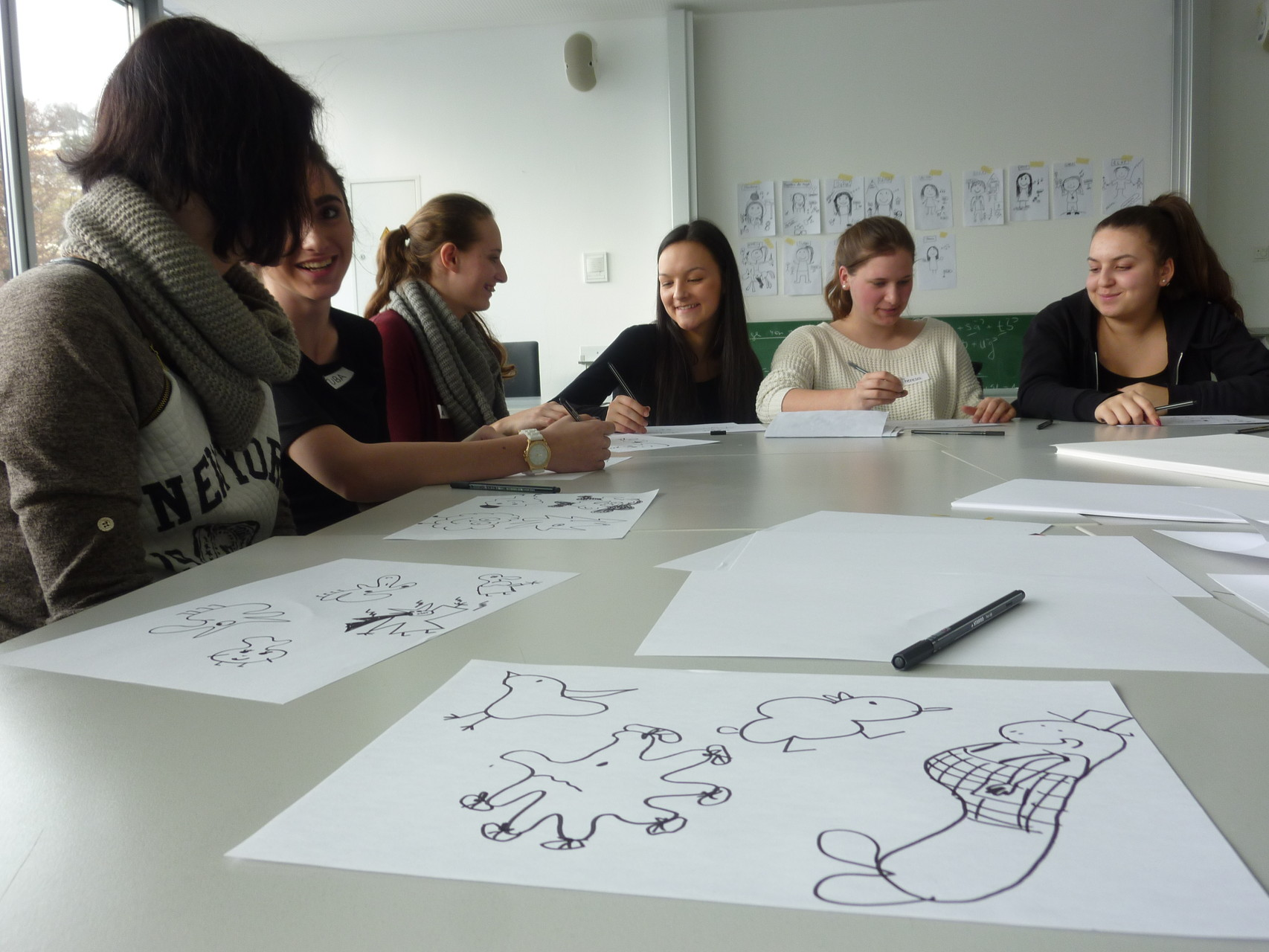 Comic-Workshop am BORG Mittersill (Foto: Laila Huber)