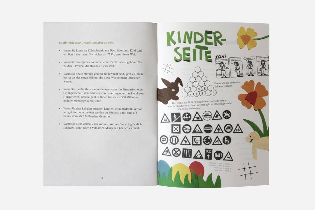 Gestaltung eines Gemeindebriefs // Innenseite