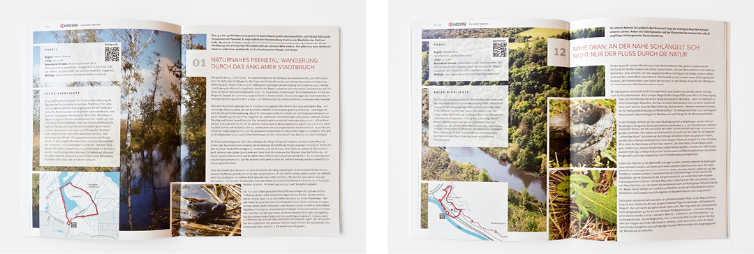 Gestaltung einer Imagebroschüre // Innenansicht