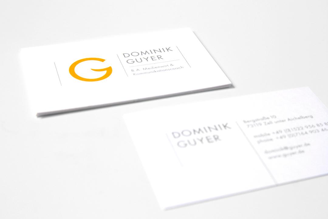Corporate Design mit Logo und Geschäftsausstattung für einen Coach // Visitenkarte