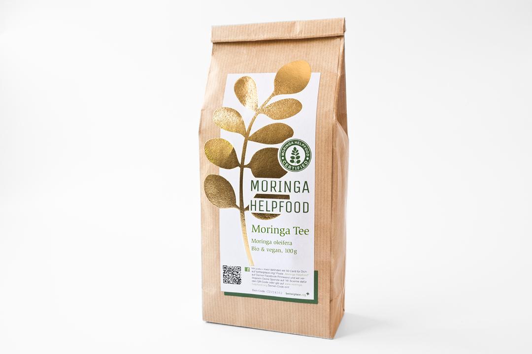 Verpackungsdesign für Bio-Tee // Frontansicht