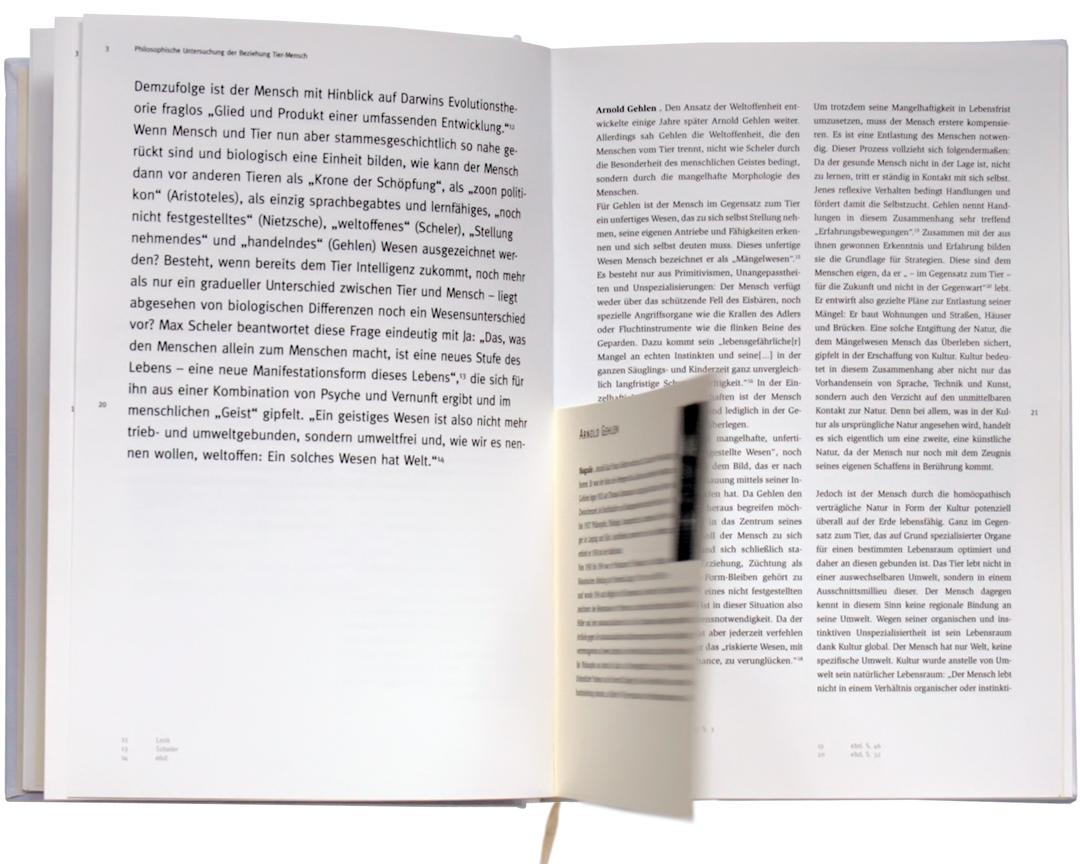 Corporate Design mit Logo, Geschäftsausstattung und Plakaten für einen Zoo // Innenseite des Buches