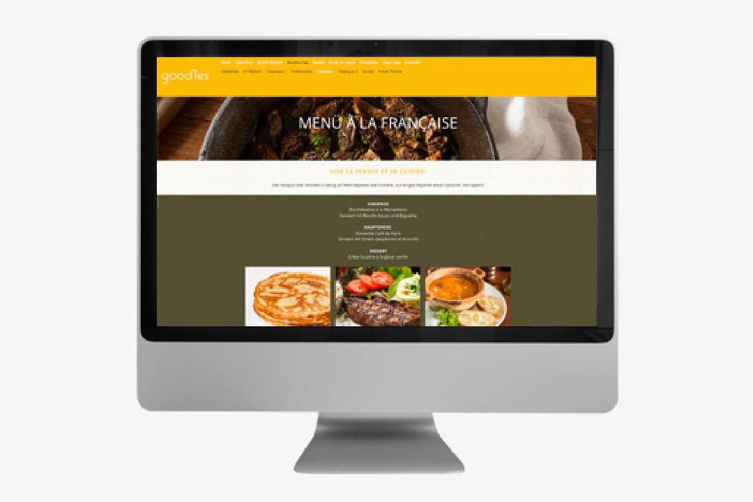 Corporate Design mit Logo und Geschäftsausstattung für ein Catering-Unternehmen // Website