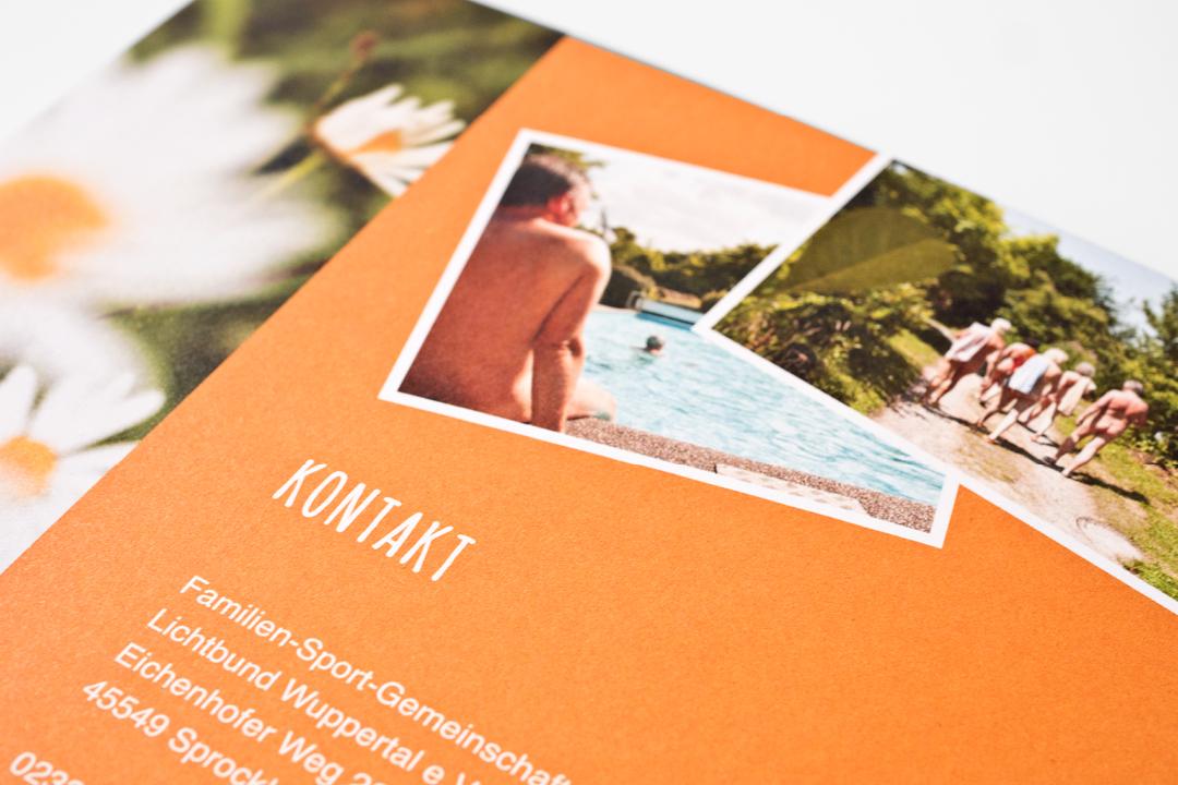 Corporate Design mit Logo und Imageflyer für einen FKK-Verein // Detail