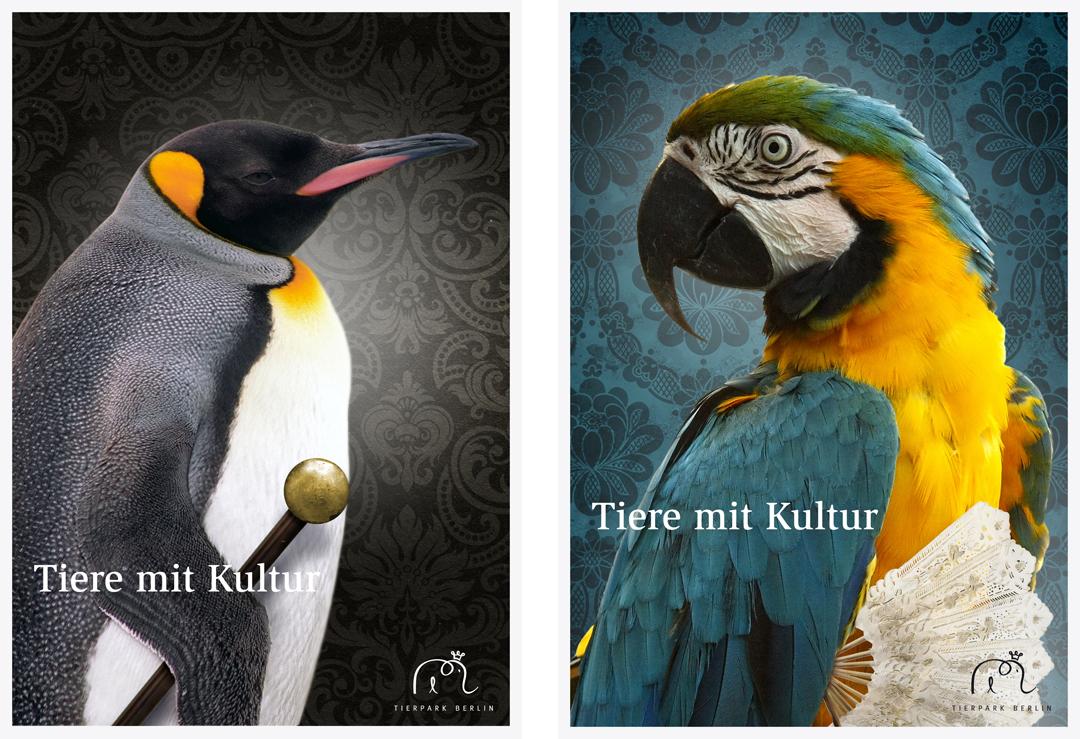 Corporate Design mit Logo, Geschäftsausstattung und Plakaten für einen Zoo // Plakat 5 + 6