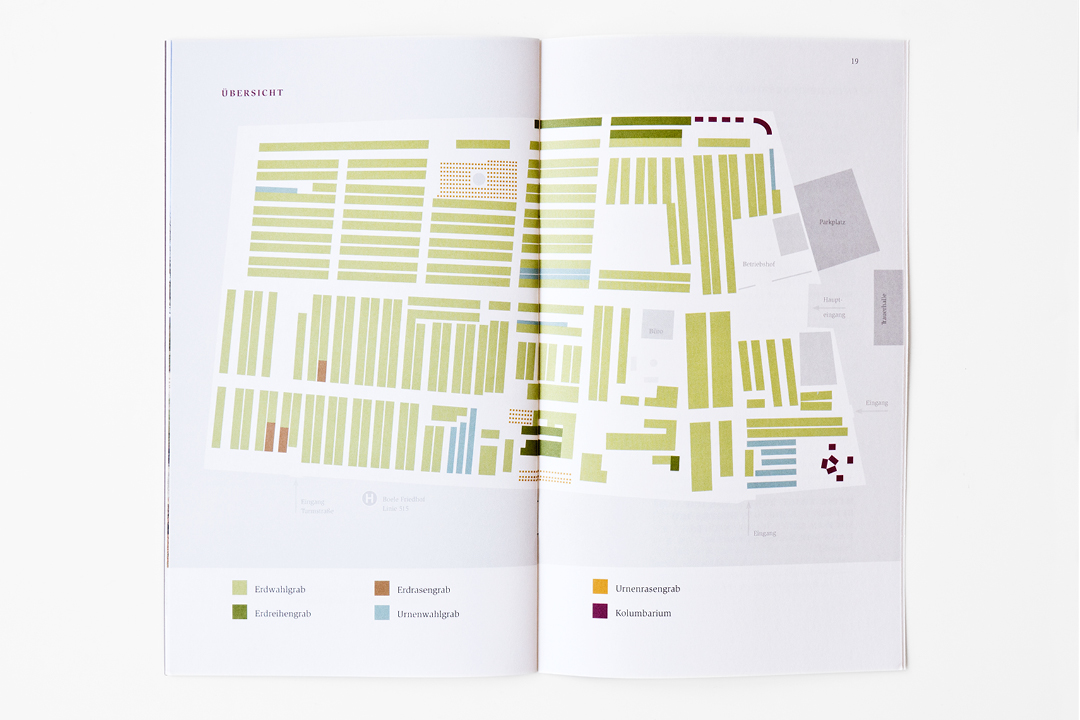 Informationsbroschüre für einen Friedhof // Innenseite