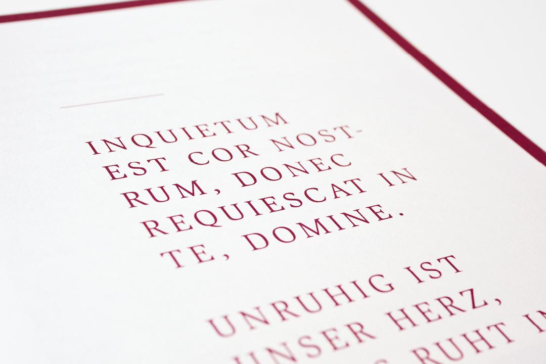 Informationsbroschüre für einen Friedhof // Detail