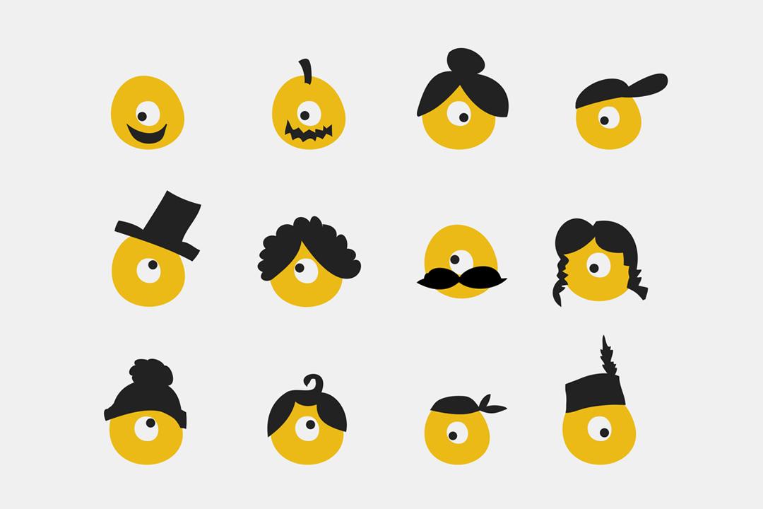 Gestaltung von Logo und Spielplan für ein Puppentheater // Logo und Icons
