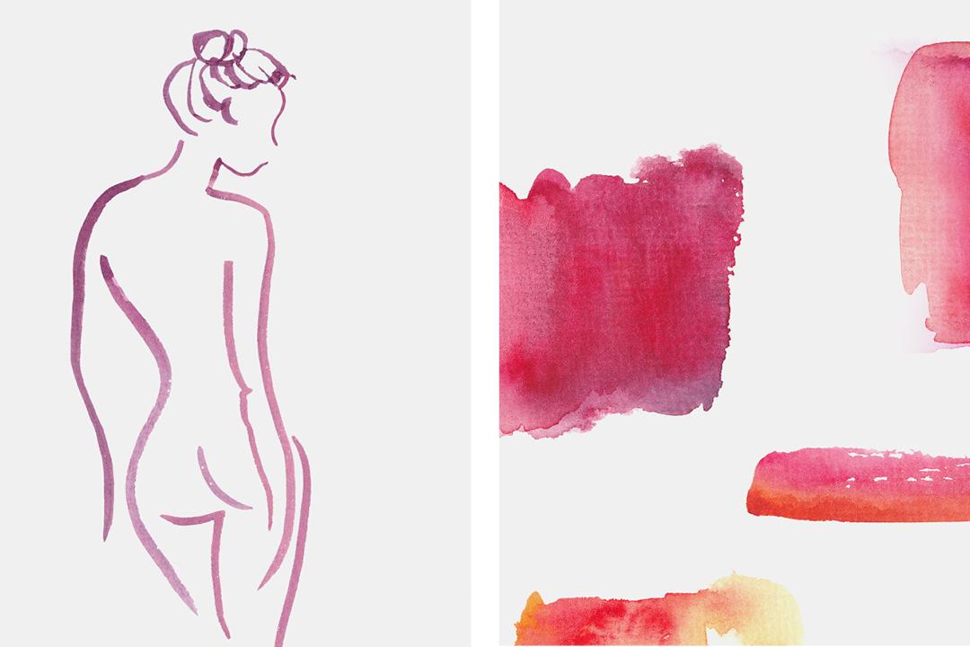 Verpackungsdesign für pflanzliche Kosmetik // Illustrationen