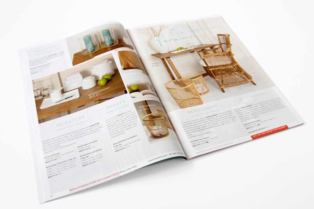 Katalog-Gestaltung für Möbel und Wohnaccessoires // Innenseite
