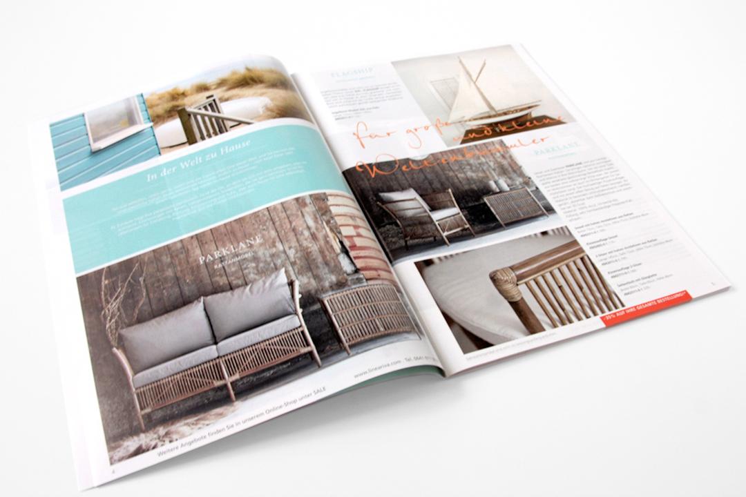 Katalog-Gestaltung für Möbel und Wohnaccessoires // Detail