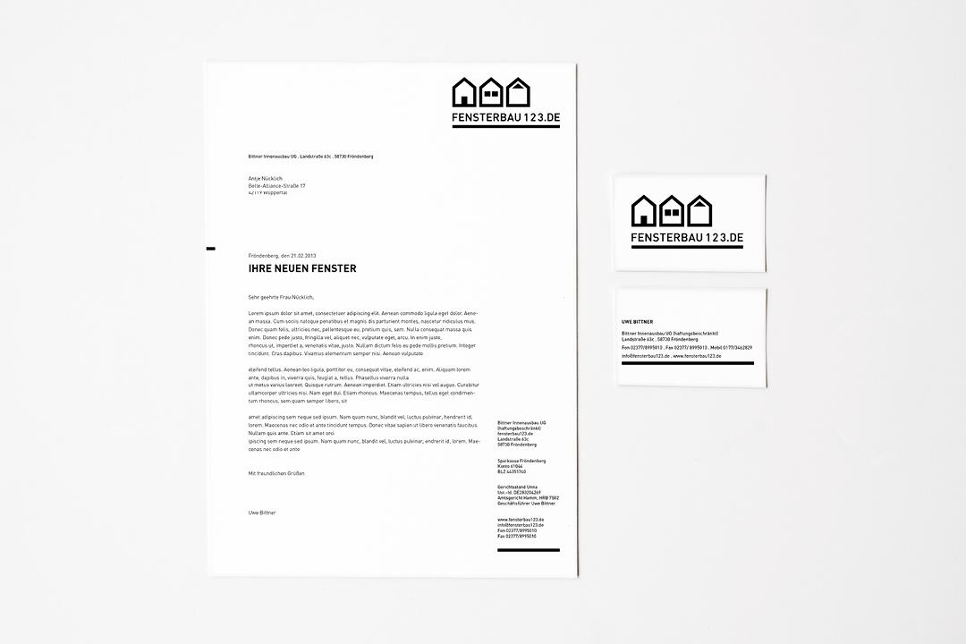 Corporate Design mit Logo und Geschäftsausstattung für einen Handwerker // Briefbogen und Visitenkarte