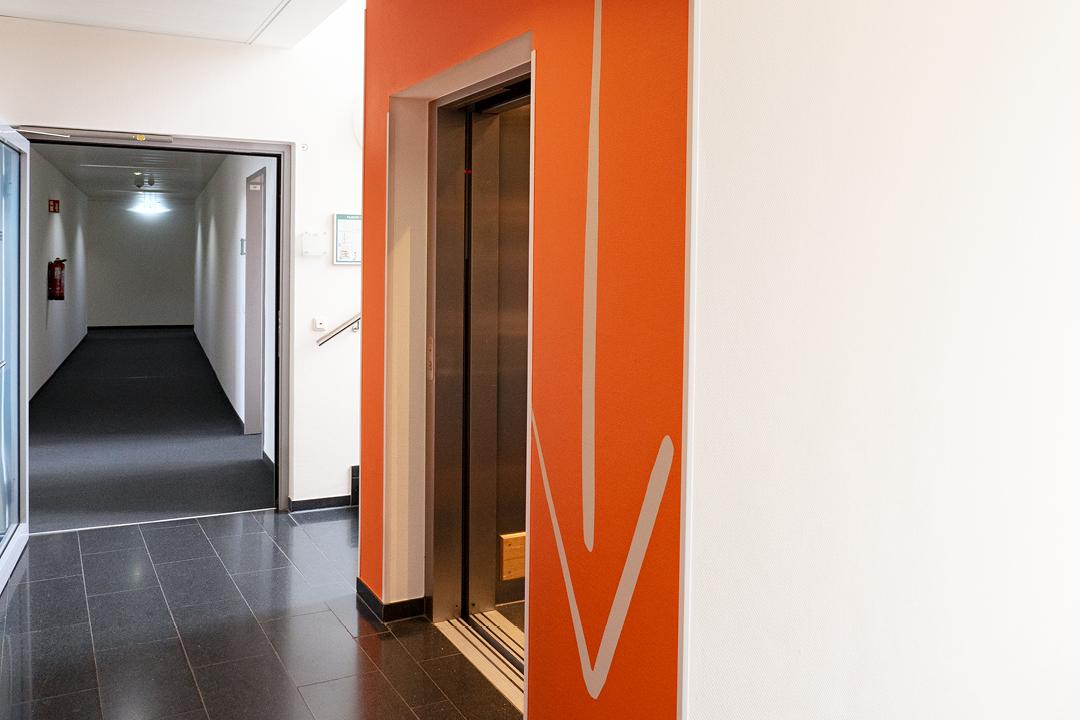 KYOCERA Office-Design // Ansicht Aufzug 2. Etage