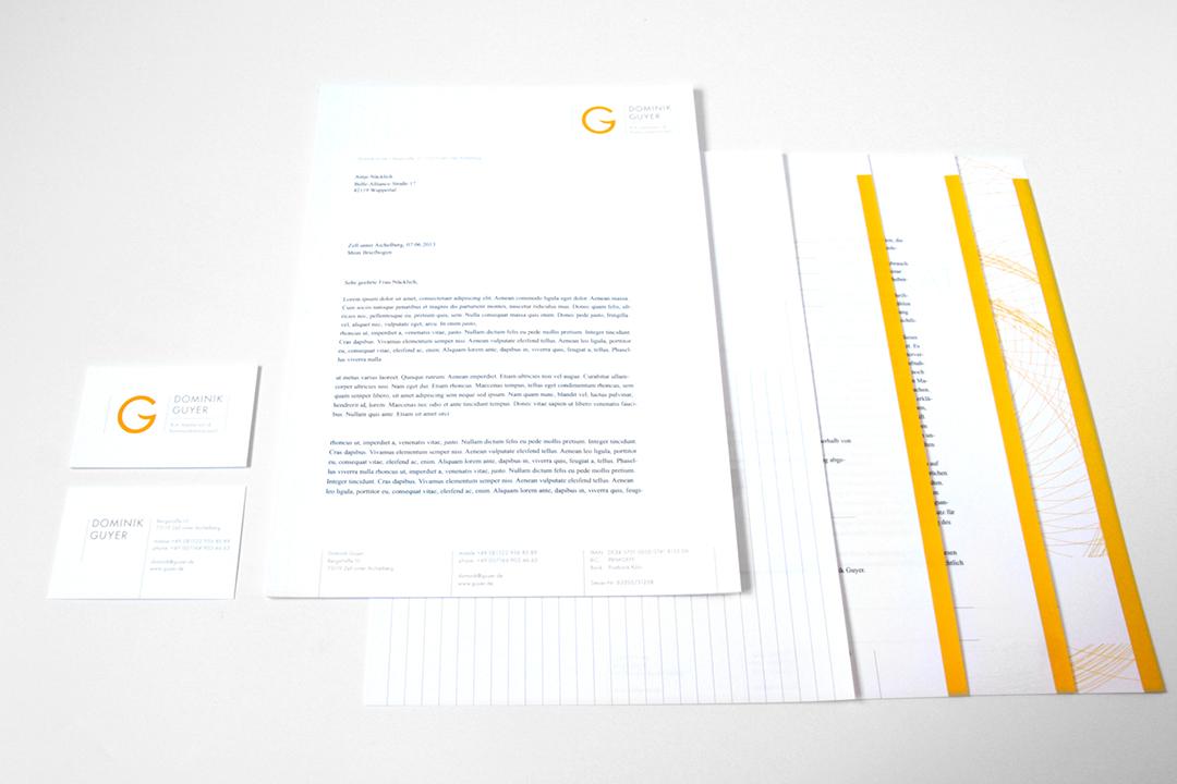 Corporate Design mit Logo und Geschäftsausstattung für einen Coach // Briefbogen