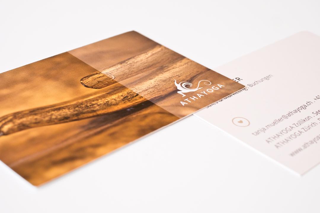 Geschäftsausstattung für ein Yoga-Studio, Visitenkarte