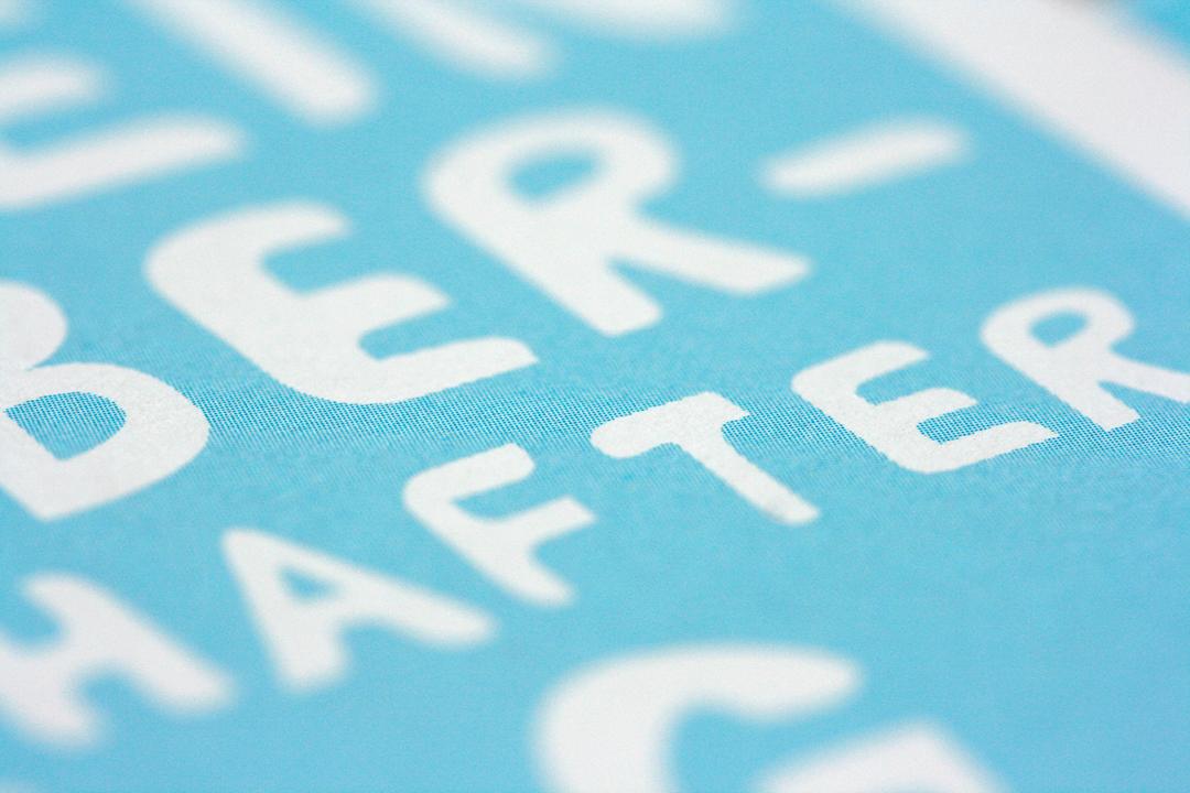 Grafikdesign für den Flyer eines Theaters, Detail