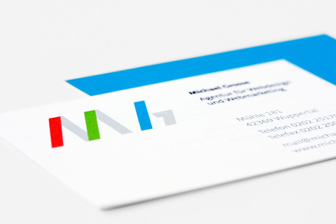 Geschäftsausstattung und Logo-Design für einen Webdesigner // Visitenkarte