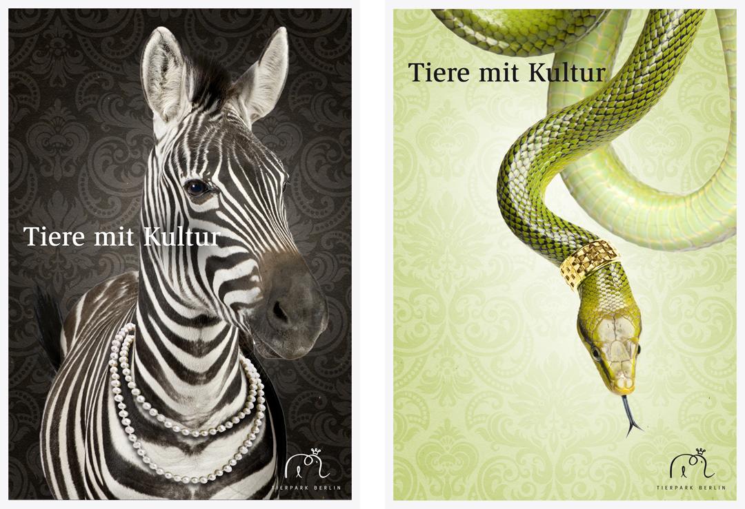 Corporate Design mit Logo, Geschäftsausstattung und Plakaten für einen Zoo // Plakat 3 + 4