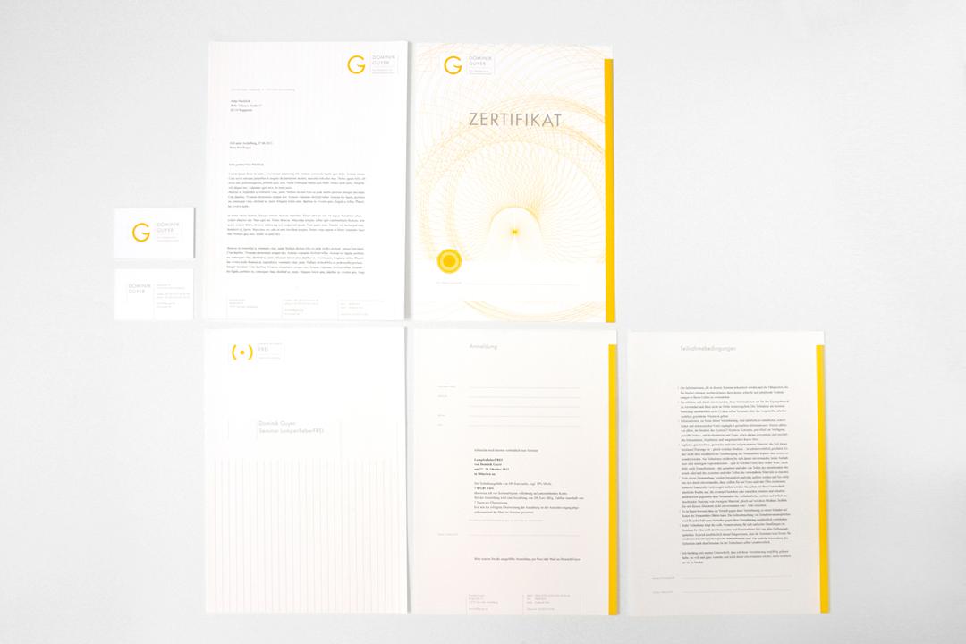 Corporate Design mit Logo und Geschäftsausstattung für einen Coach // Gesamtübersicht