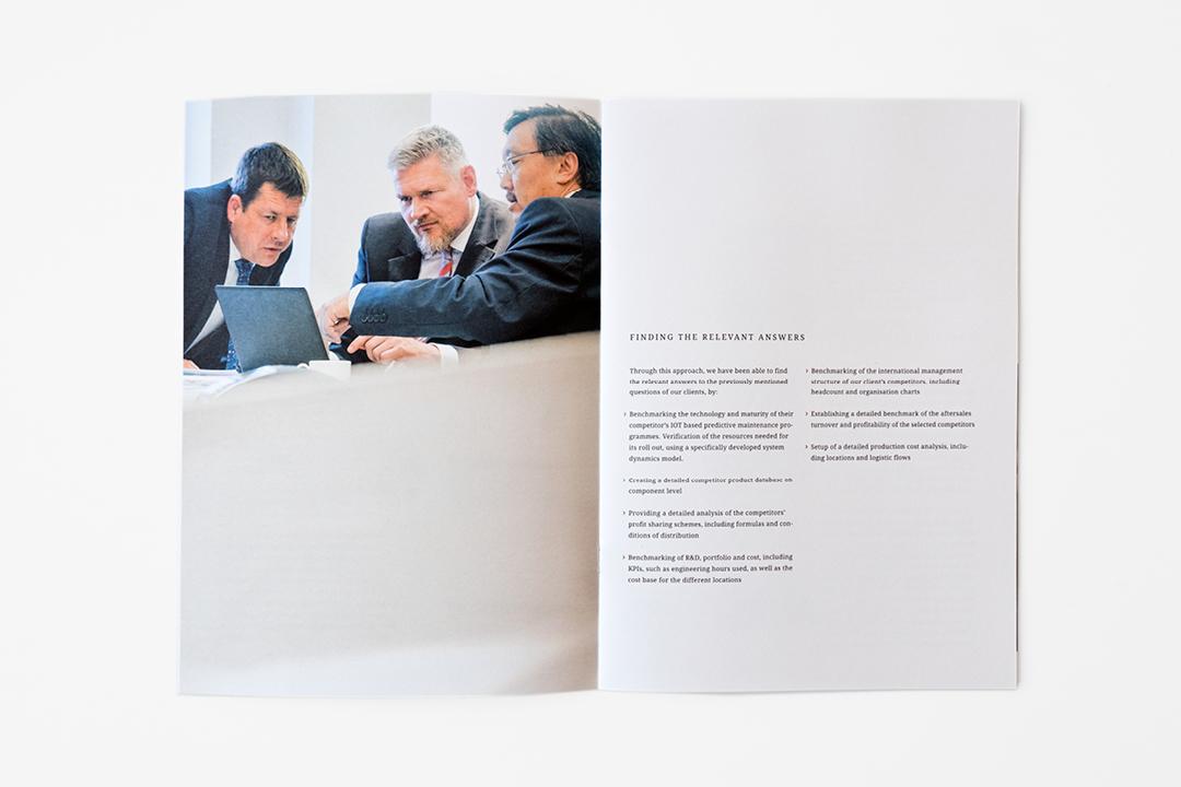 Corporate Design mit Logo und Geschäftsausstattung für ein Consulting Unternehmen // Imagebroschüre