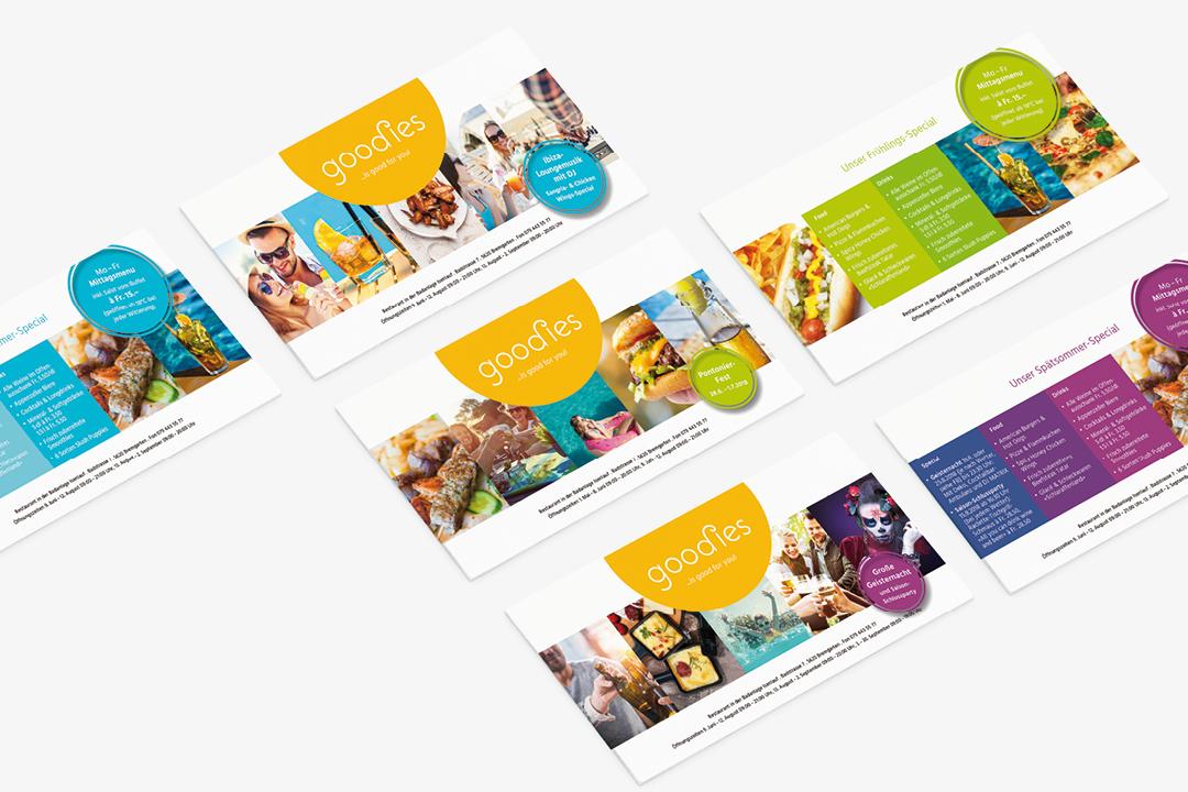 Corporate Design mit Logo und Geschäftsausstattung für ein Catering-Unternehmen // Flyer