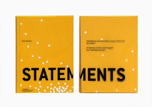 Buchgestaltung für eine Projektarbeit // Cover und Rückseite