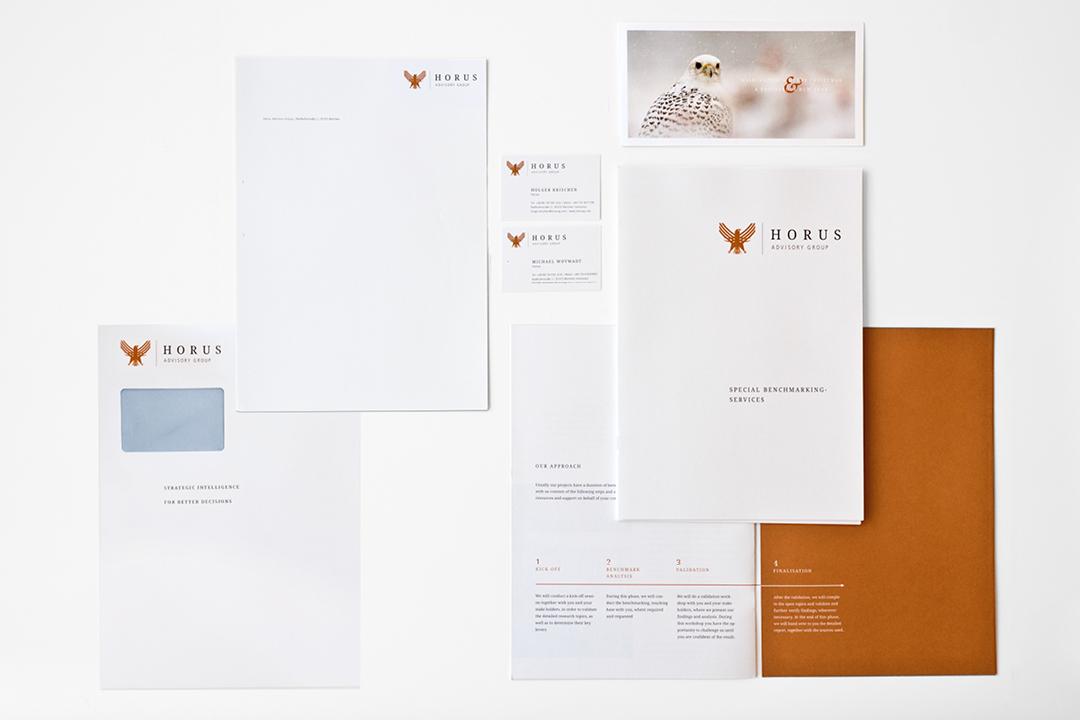 Corporate Design mit Logo und Geschäftsausstattung für ein Consulting Unternehmen // Gesamtübersicht