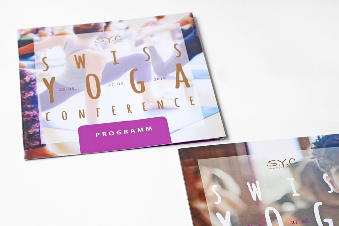 Corporate Design für ein Yoga-Event, Image-Flyer und Programm-Flyer