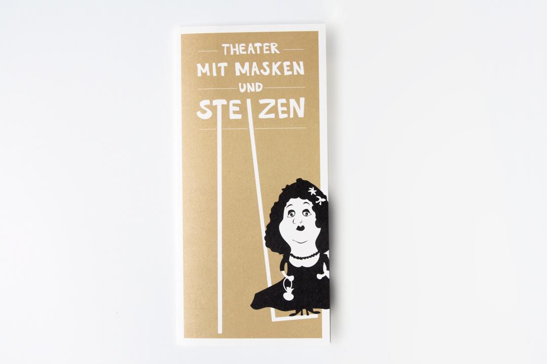 Gestaltung eines Imageflyers für ein Theater // Cover